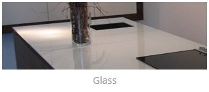 Glass kitchen worktops