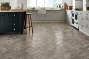 Karndean Flooring - Herringbone wood effect