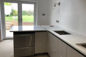 Fitting the kitchen worktop